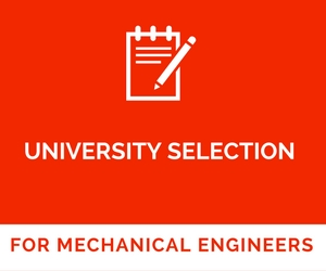 University selection in USA for Mechanical Engineering